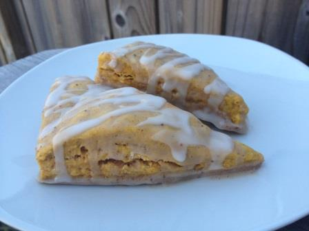 Pumpkin Scones with Spiced Frosting
