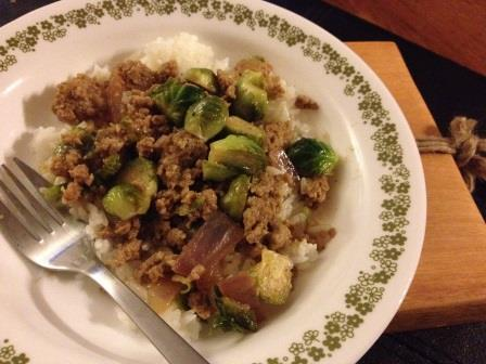 Pork & Brussels Sprouts in Black Bean Sauce - The Domestic ...