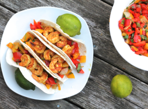 Curry Shrimp Tacos | thedomesticblonde.com