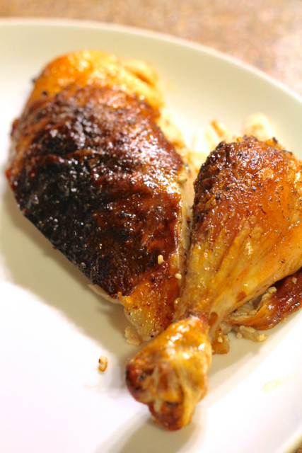 Garlic Butter Roast Chicken | thedomesticblonde.com