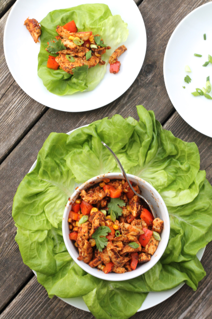 Easy Chipotle Chicken Lettuce Wraps | thedomesticblonde.com