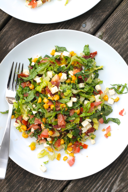 The Best Summer Chopped Salad   thedomesticblonde.com