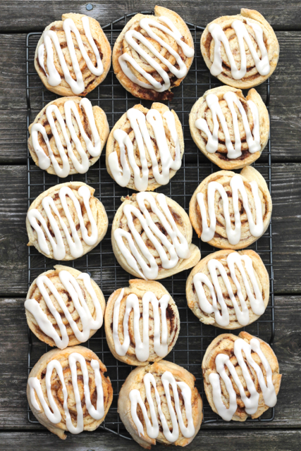 The Best No-Yeast Cinnamon Buns | thedomesticblonde.com
