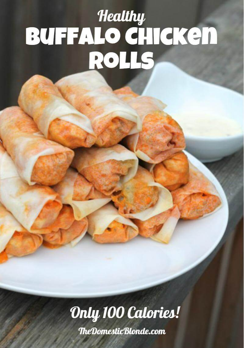 Healthy Buffalo Chicken Rolls | thedomesticblonde.com
