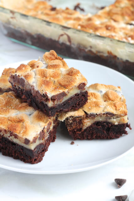 Rocky Road Brownies   thedomesticblonde.com