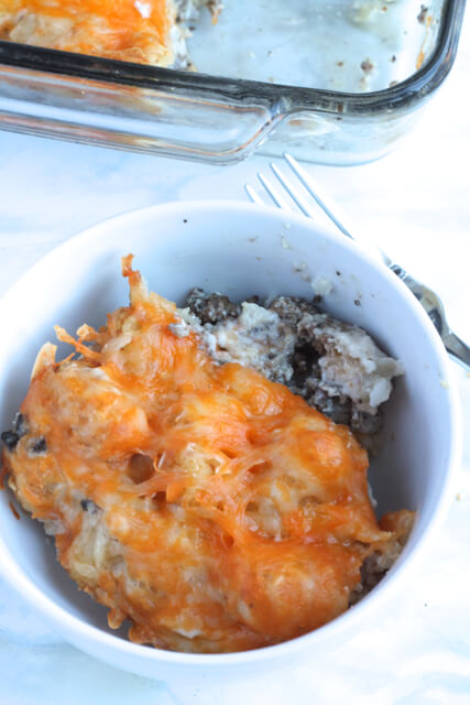 Tater Tot Casserole   thedomesticblonde.com