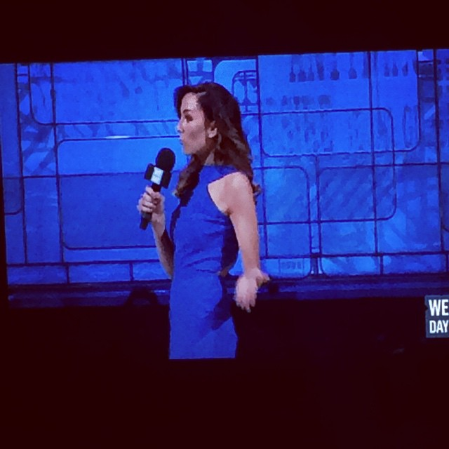 @amandalindhout at #WeDay! Author of #Ahouseinthesky, the @unputdownablebc's March book.