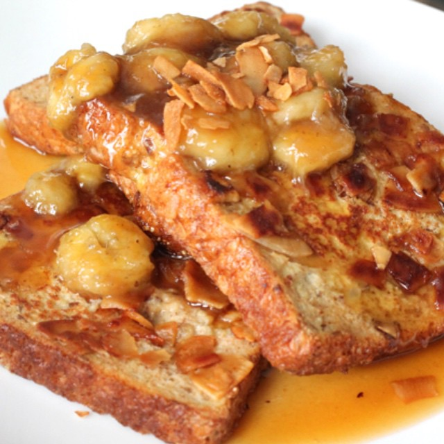 Bourbon banana french toast #ontheblog link in profile!