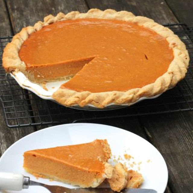 Sharing one of my most popular recipes today for #thanksgiving in #america! Easy Classic Pumpkin Pie #pumpkin http://www.thedomesticblonde.com/2013/11/15/easy-classic-pumpkin-pie/