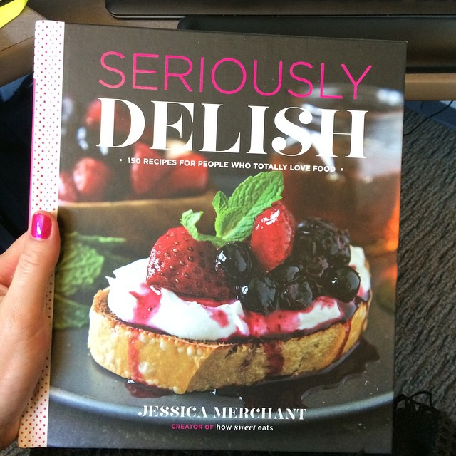 Advance copy of this bad boy made me want to quit my job and cook forever. Congrats Jess! @howsweeteats #SeriouslyDelish
