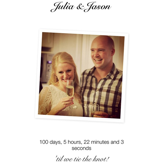 It's getting real!!! 100 days!!! #jjwedding
