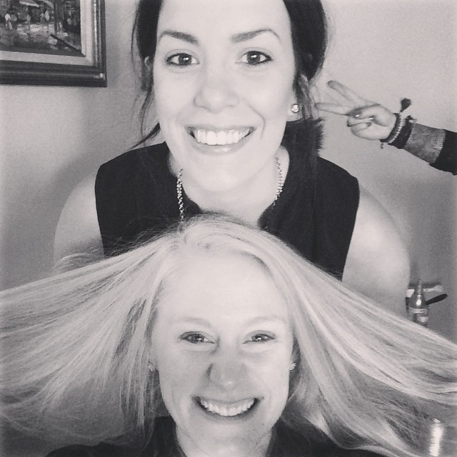 Hair time with @kellybharding! #h2mwedding